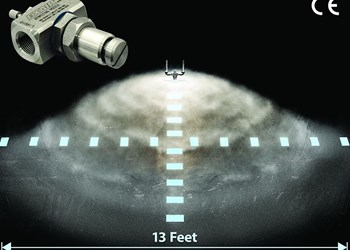Exair 1/2 NPT internal-mix atomizing spray nozzle