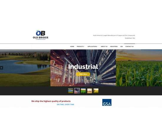 Old Bridge Chemicals website