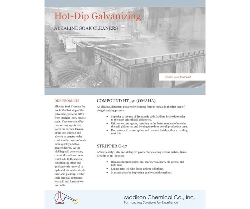 Madison Chemical brochure