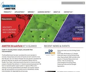New Ametek Brookfield website