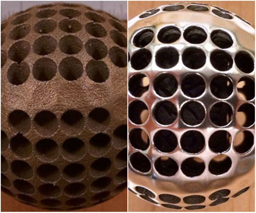 centrifugal iso-finishing on 3D-printed metal component