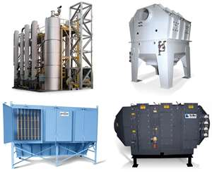 Tri-Mer wet and dry pollution-control equipment