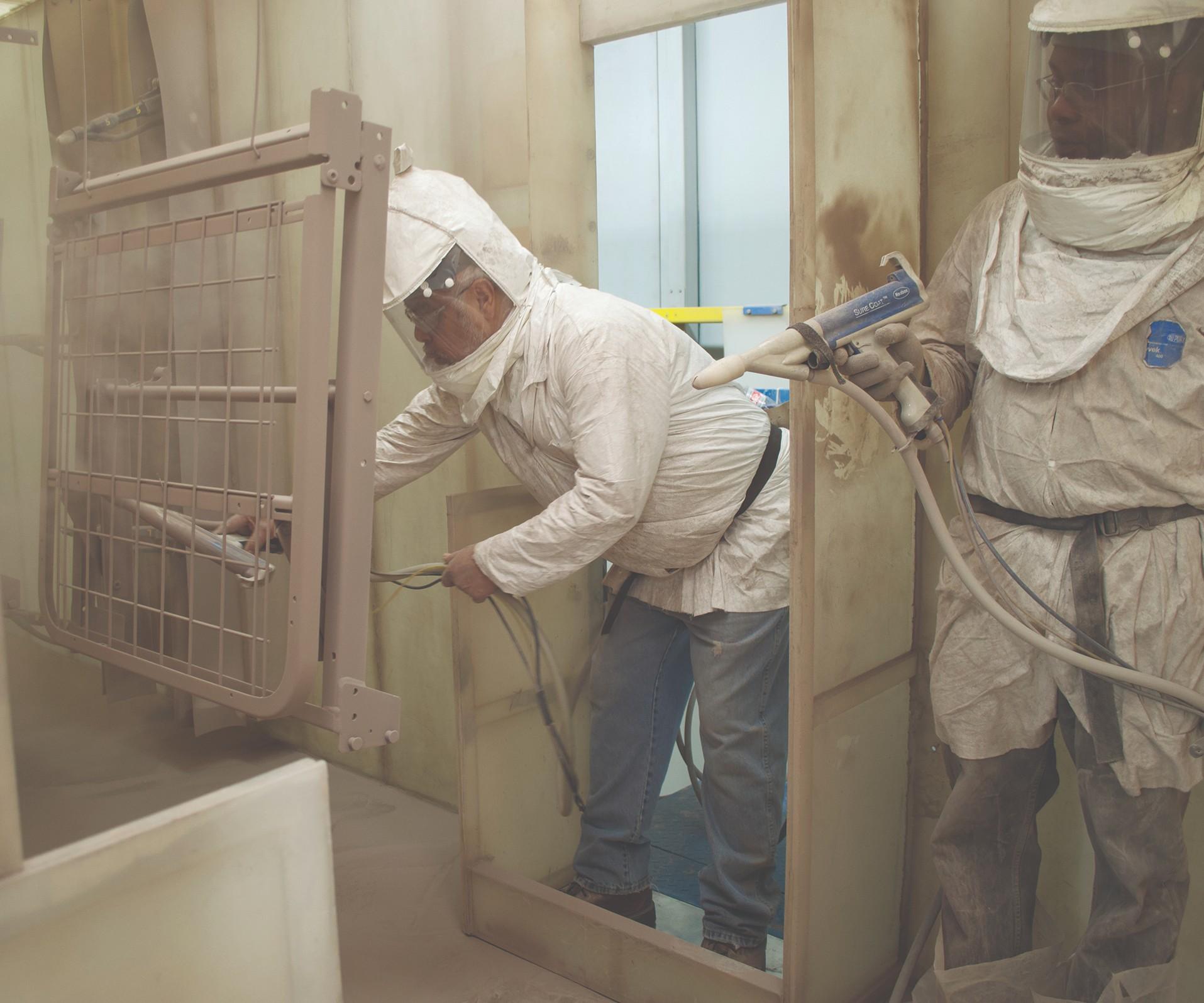 powder coating hospital bed