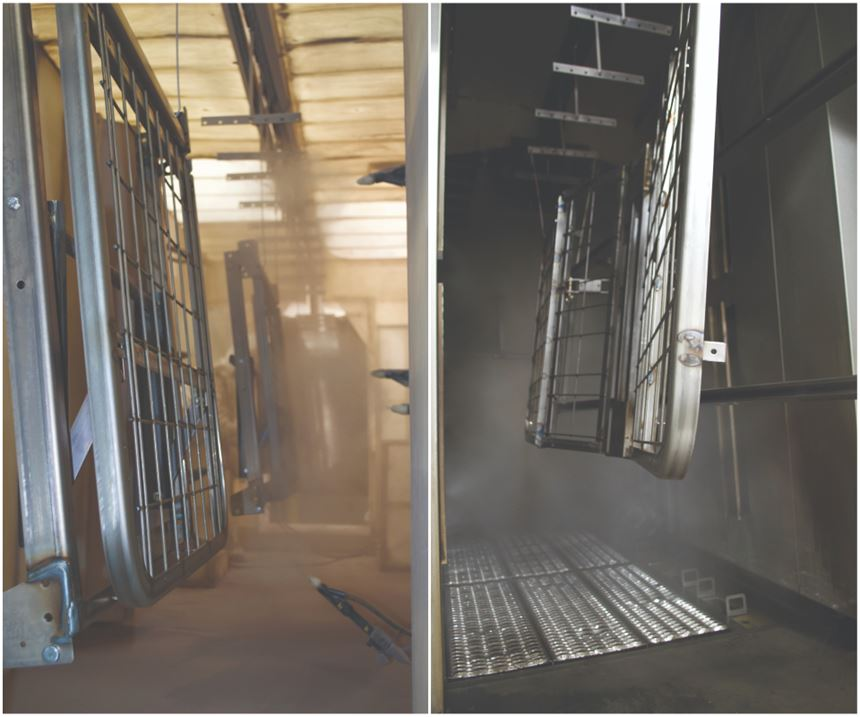 pretreatment of hospital beds before powder coating