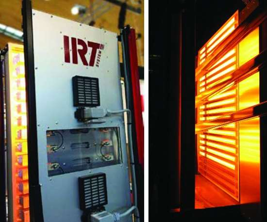 Hedson IRT-Booster for paint curing