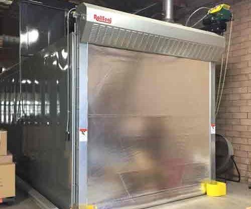 RollSeal fabric oven door