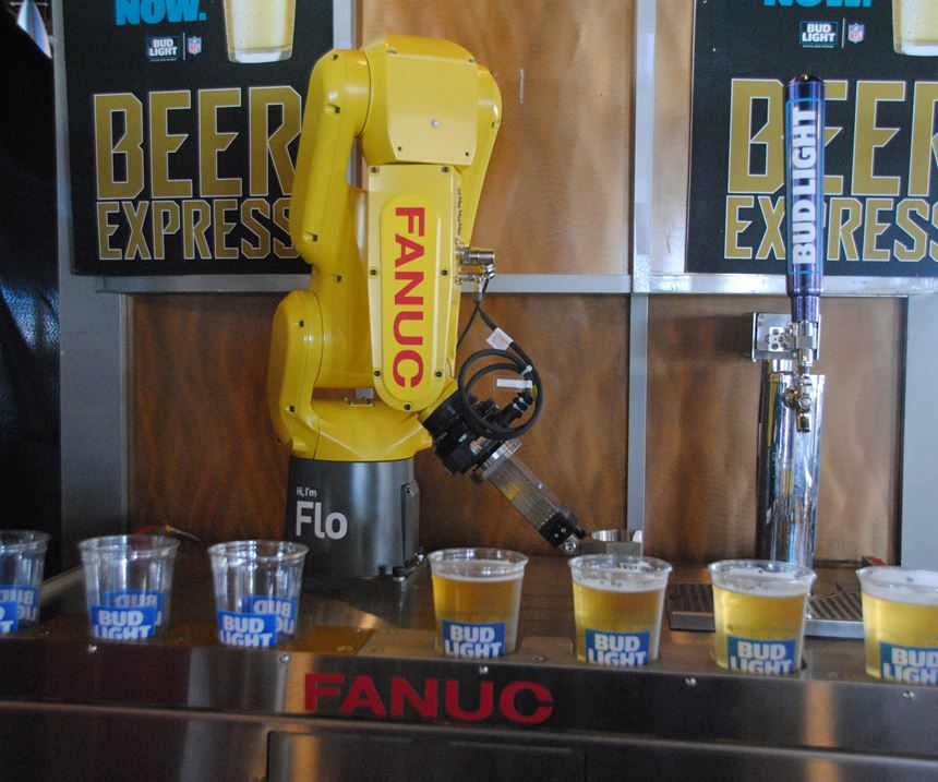 robot pouring beer