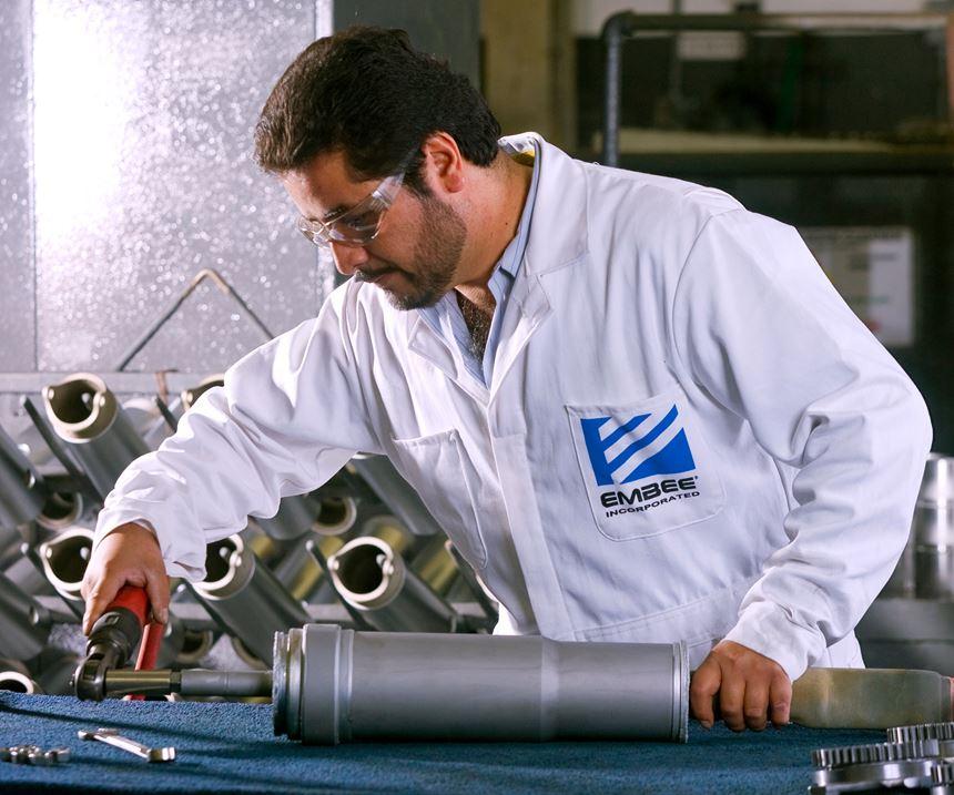 man fixing part
