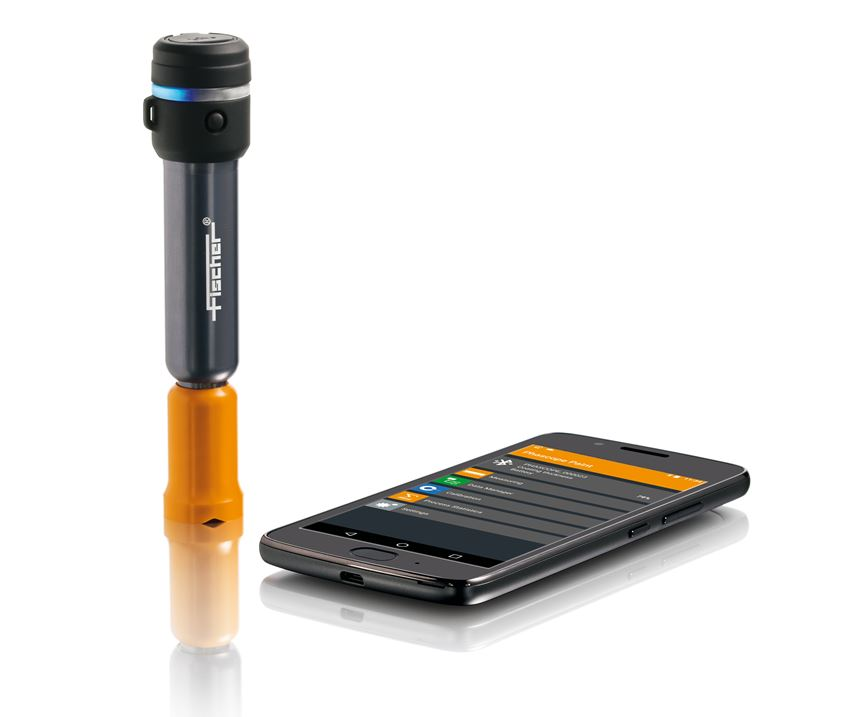 measuring pen and smart phone