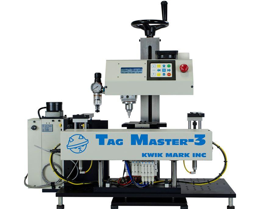 Kwik Mark Tag Master 3 automatic dot peen marking system