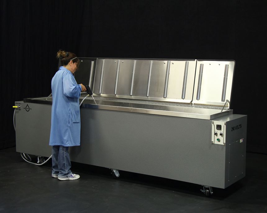 Omegasonics customizable ultrasonic cleaning machine