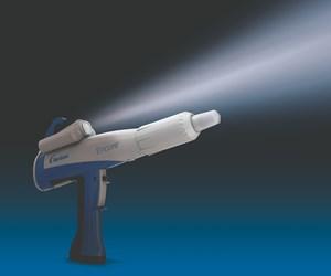 powder coating gun with light