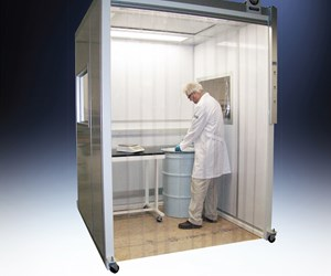 man standing in a containment unit