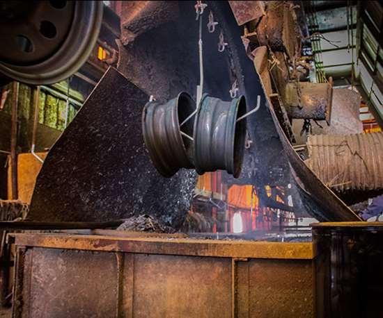 parts being galvanized