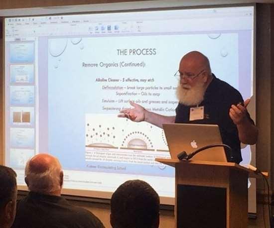 man making presentation