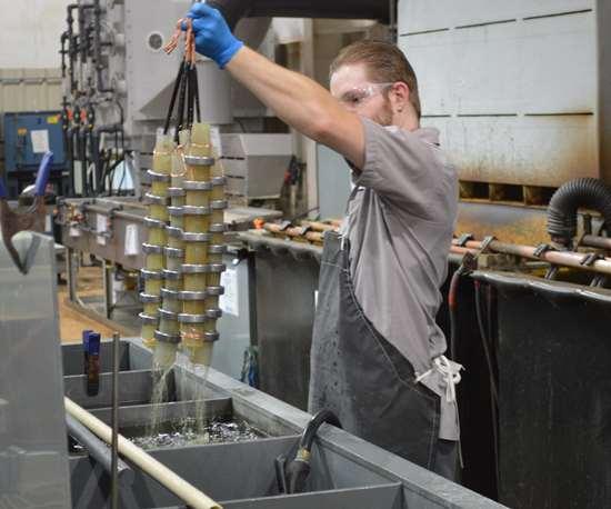 man plating parts
