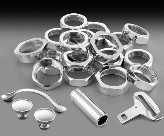 chrome-plated parts