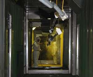 man powder coating parts