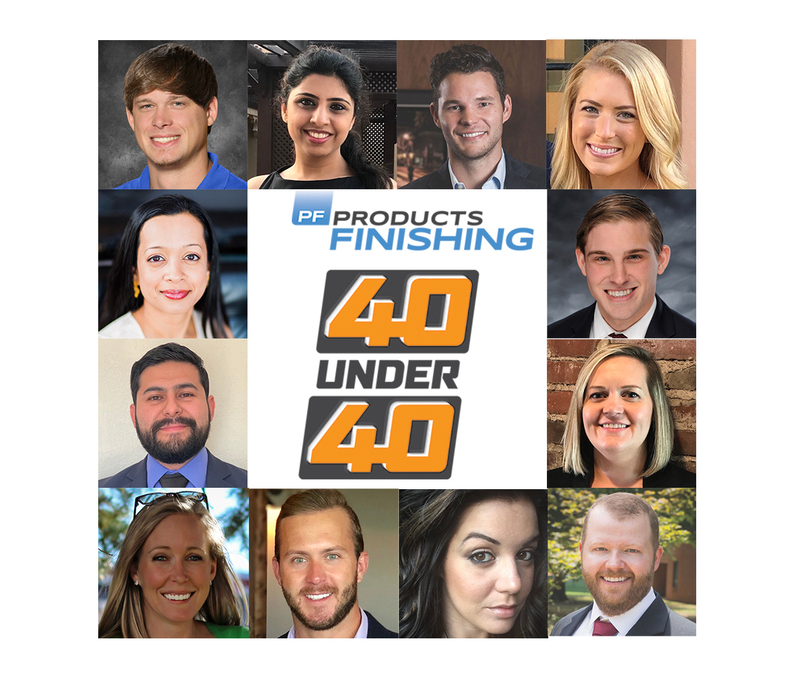 collage of images with the 40-under-40 logo