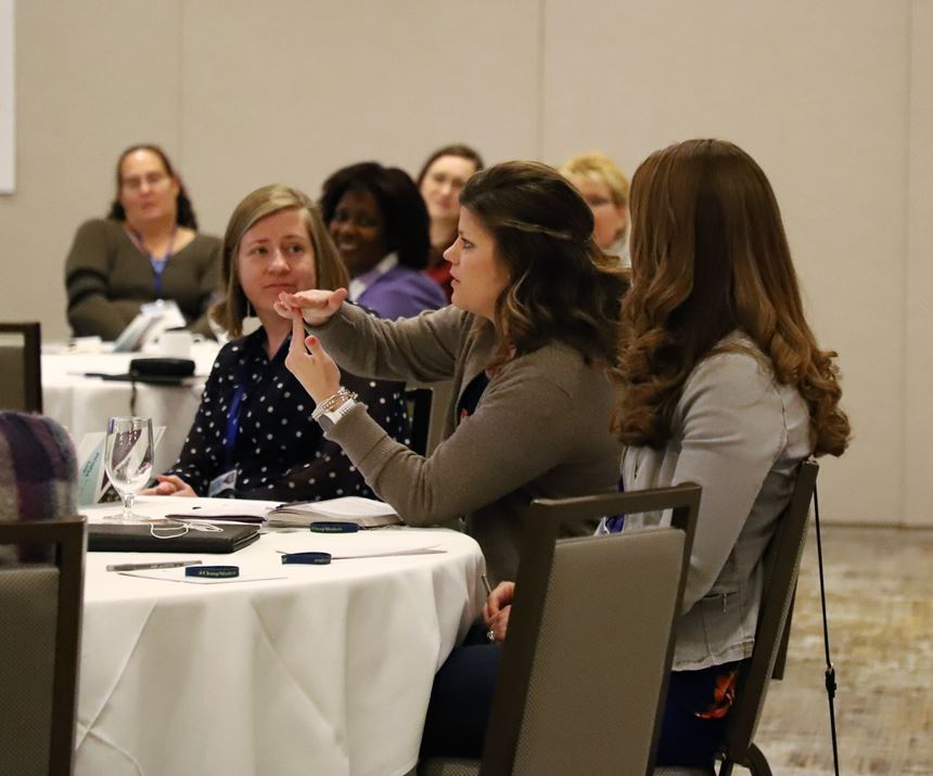 Attendees at the 2019 Forum had the opportunity to network and learn from the experiences of other women in the finishing industry.