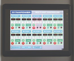 Dynapower's multiunit rectifier controller can control between one and 10 rectifiers from a single, user-friendly touchscreen that can be centrally located in any facility.