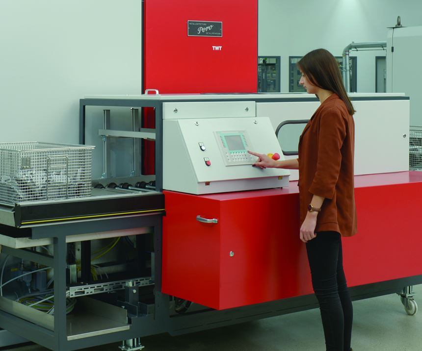 woman running a machine
