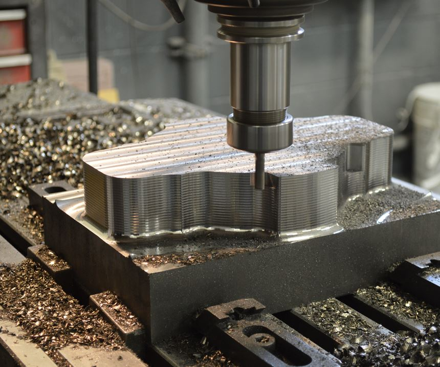 parts being machined