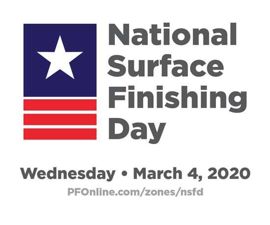 national surface finishing day logo