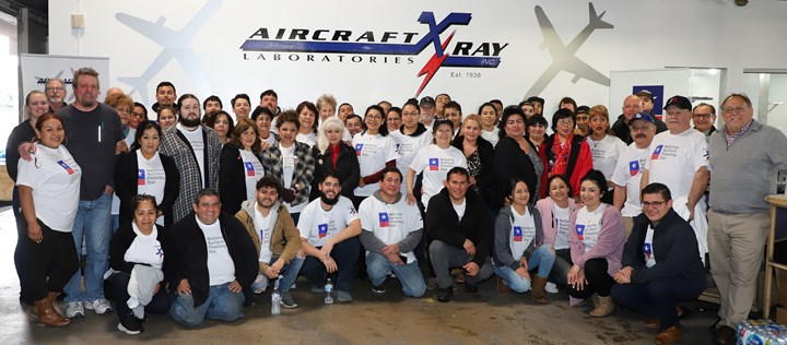 Management and employees at Aircraft X-Ray Laboratories