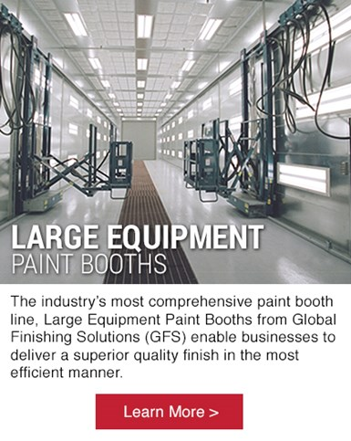 Large Equipment Paint Booths from Global Finishing Solutions