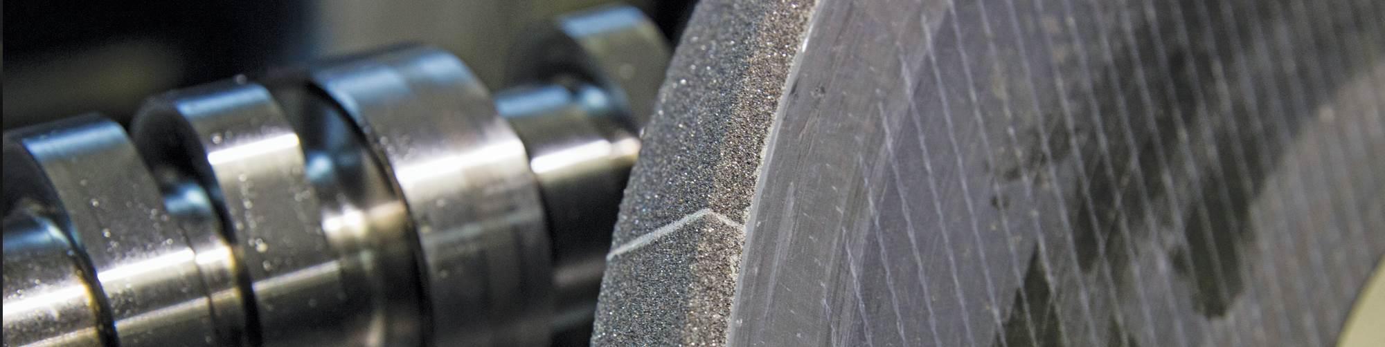 All nine of Comp Cams' CNC grinding machines use carbon-fiber-hub cBN wheels.