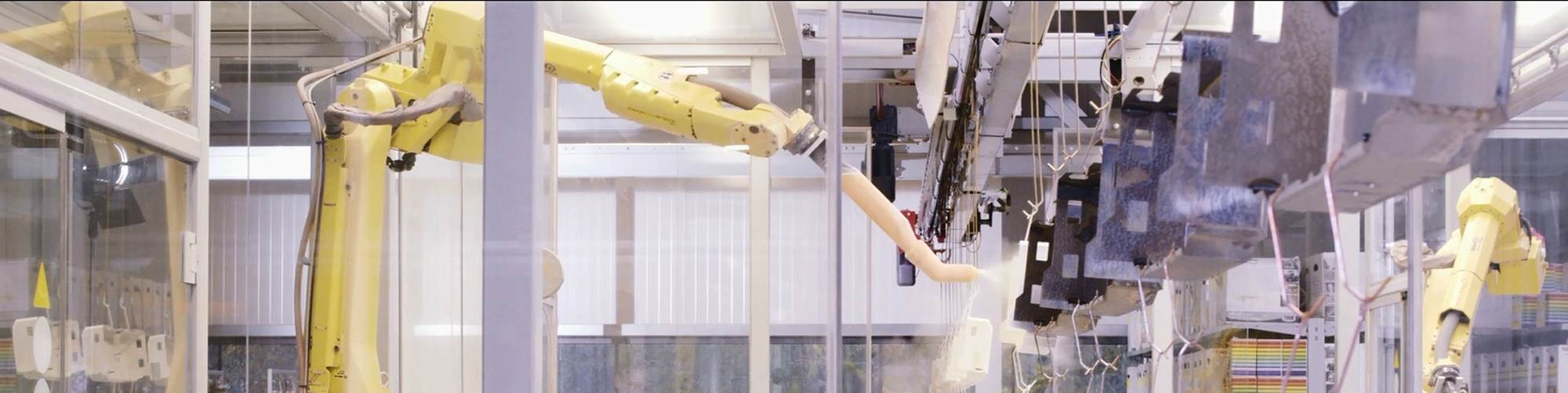 Automated painting with robots is one of the major trends in industrial painting technology.