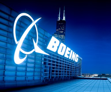logo of boing on a building