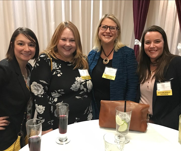 Jennifer Baker, Erin Giddings, Valerie Martin and Cait Schick helped represent Process Technology at the Fast Track 50 Awards Gala.