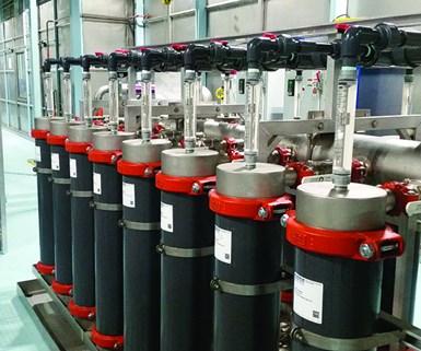 """Koch's 8"""" KPAK ecoat ultrafiltration modules."""