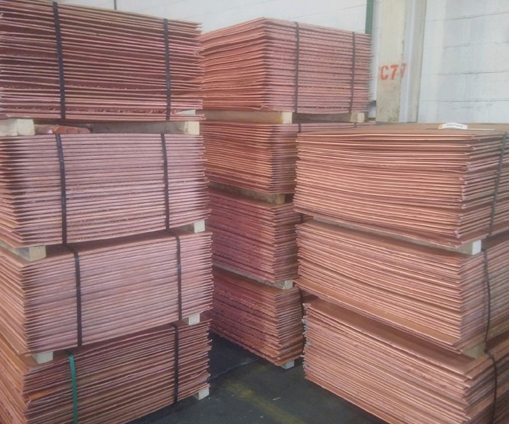 stacked copper anodes
