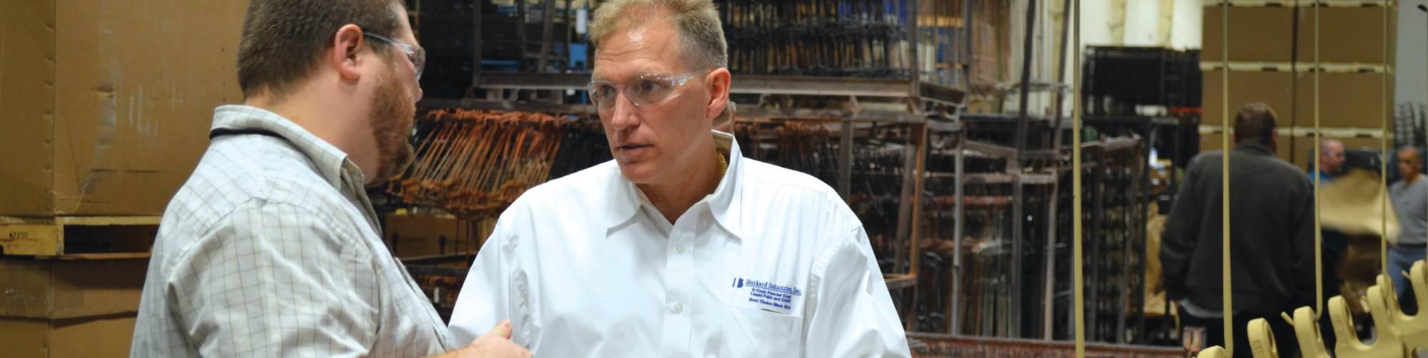 Jay Burkard, right, president of Burkard Industries