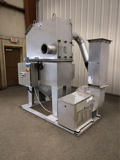 Tri-Mer stainless steel MCD whirl wet dust collector