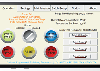 Col-Met Oven App Enables Remote Monitoring