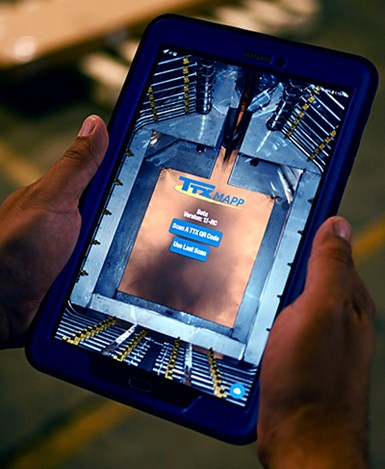 TTX Map - Tablet for finishing systems