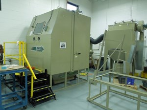 Clemco Delivers Modified Abrasive Blasting Cabinet to MB Aerospace