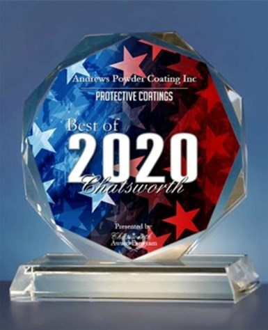 A photo of Andrews Powder Coatings' 2020 Best of Chatsworth award