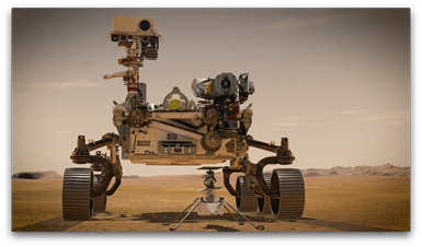 mars rover, painting the mars rover