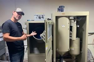 Clemco Blast Cabinet Increases Accu-Tec Efficiency by 400%