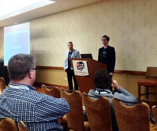 Ryan Kelly and Todd Prittspresent at the Top Shops Conference