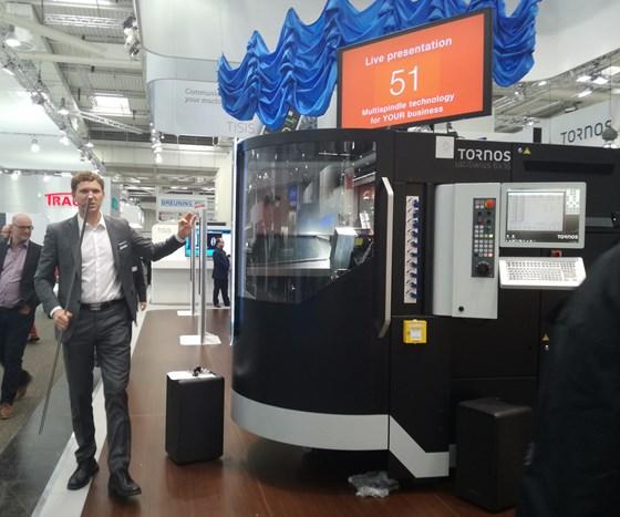 Tornos Multi-Swiss machine at EMO