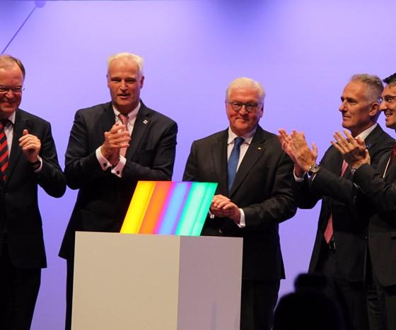 German President Frank-Walter Steinmeier, third from the left