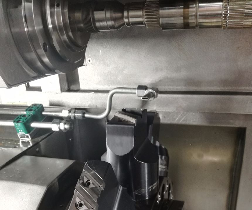 inside of a turning machine