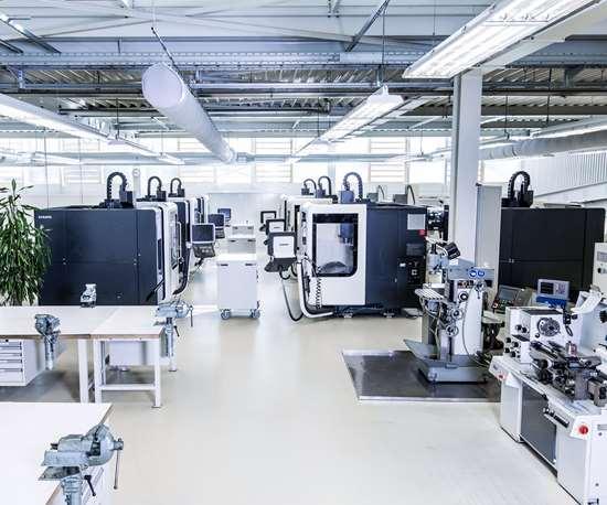 machine cells on shop floor