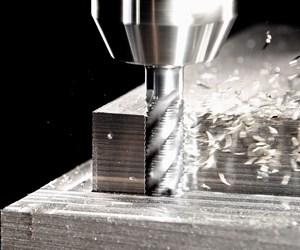 Four-edge end mill